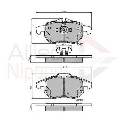 New Saab 9-3 YS3F 1.8 t BioPower Genuine Comline Rear Brake Pads Set
