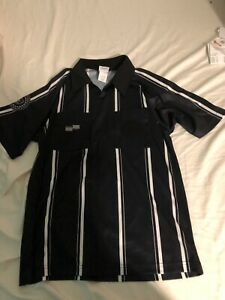 b468ef37e93 Image is loading Official-Sports-Black-Soccer-Referee-Short-Sleeve-Jersey-
