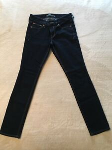 Express-Stella-Regular-Low-Rise-Ankle-Skinny-Jeans-Size-4-Dark-Wash-Women-s