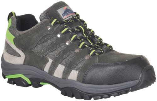 Para Hombre Portwest Gris ligero Steelite de corte bajo de seguridad Trainer Zapatos Talla 6-12