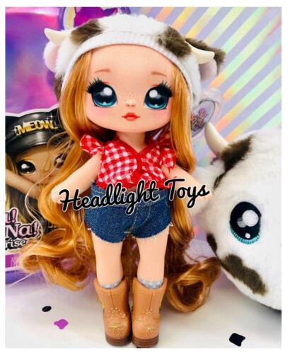Series 3 Na Na Na Surprise AnnaBelle Moooshe Cow 2 IN 1 Fashion Doll Plush Purse
