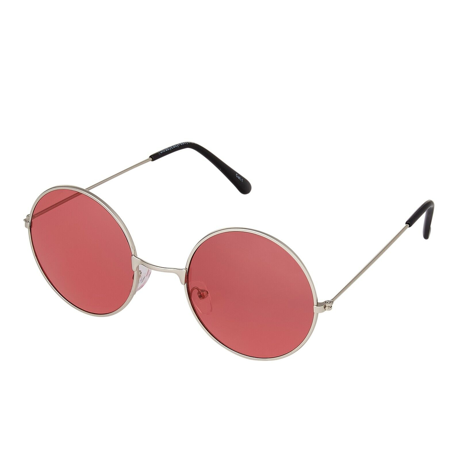 Runde Sonnenbrille mit roten Gläsern | ROMWE