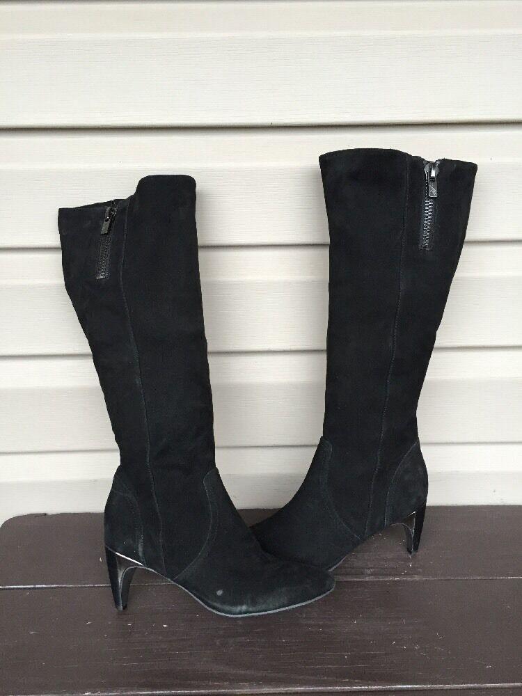 KENNETH COLE NEW YORK GLASS ACT SUEDE HEEL schwarz damen DRESS Stiefel SZ 6 EUC  298