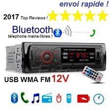 Autoradio voiture Bluetooth Stéréo entrées SD USB MP3 Radio FM mains libres 2017