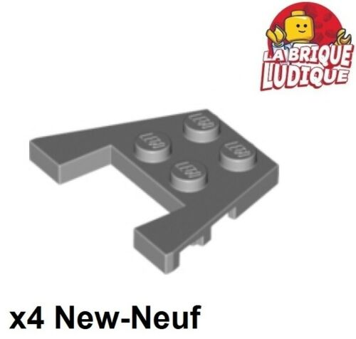 Lego 4x Aile Wedge plate 3x4 stud notches gris//light bluish gray 48183 NEUF