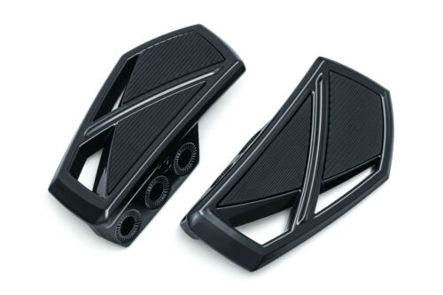Kuryakyn Gloss Black Phantom FRONT Mini Floorboard /& Adapter KIT Suzuki M109R