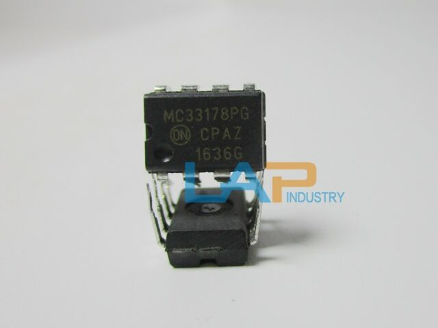 10 pcs MC33178P ONSEMI  OP-AMP  2-18V  Dual Low Power  2-Channel  DIP8 NEW  #BP