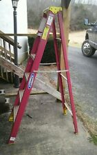 Werner Fs206s 6 Ft Fiberglass Ladder Non Slip Type Ii 225 Lbs Local Pickup