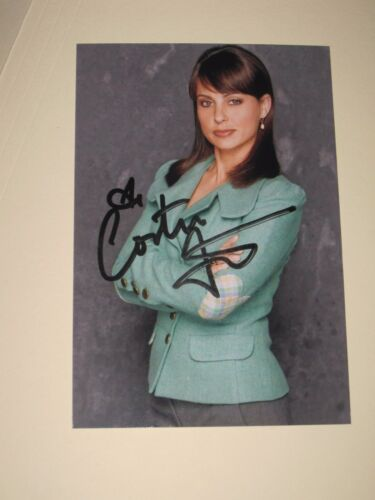 Actress CONSTANCE ZIMMER Signed 4x6 PRETTY Photo AUTOGRAPH 1A