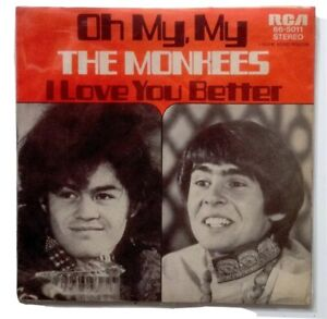 THE-MONKEES-Promo-1970-7-034-Oh-My-My-Original-Germany-White-Label-66-5011-RCA