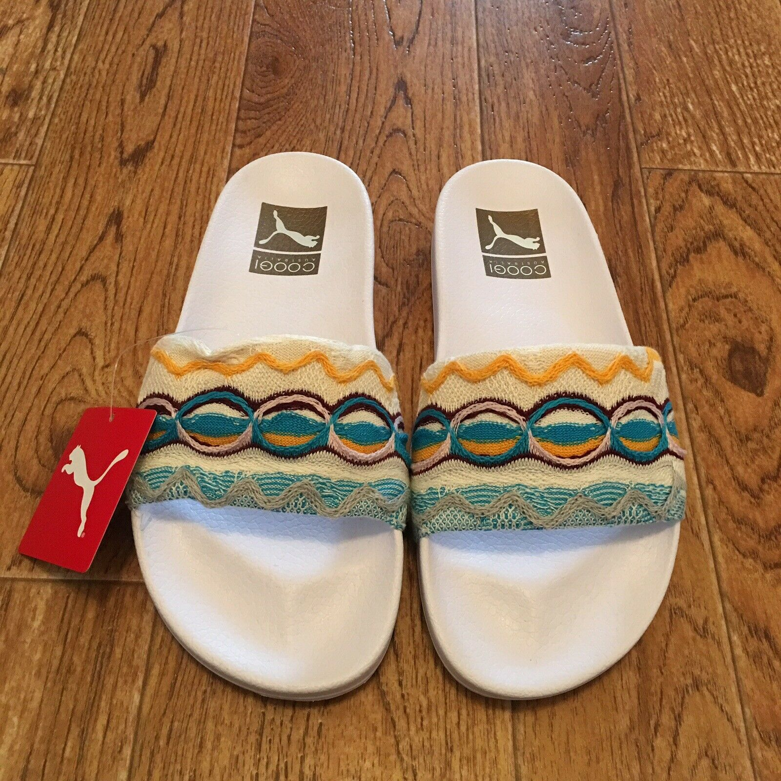 55b26a5425 Puma x Coogi Leadcat Slides Multi White Knit Sandals Sandals Sandals ...