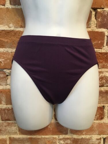Rhonda Shear Plum Purple Seamless Stretch Knit Ahh Brief Panties New