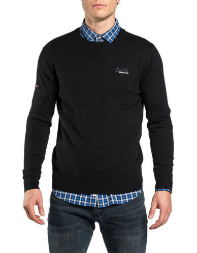 NEW Superdry Orange Label Crew Black