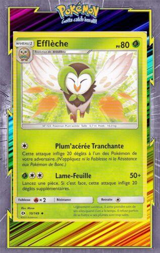 SL1:Soleil et Lune Efflèche 10//149 Carte Pokemon Neuve Française