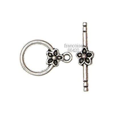 Fermoirs Toggle /_ FLEUR 20X16mm /_ Perles apprêts création  bijoux bracelet /_F010