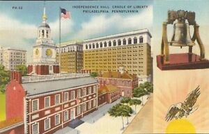 Vintage-Postcard-Independence-Hall-Philadelphia-Pa