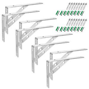 12 inch Shelf Brackets Stainless Steel 201 Triangle Shelf Support Load 132 lb