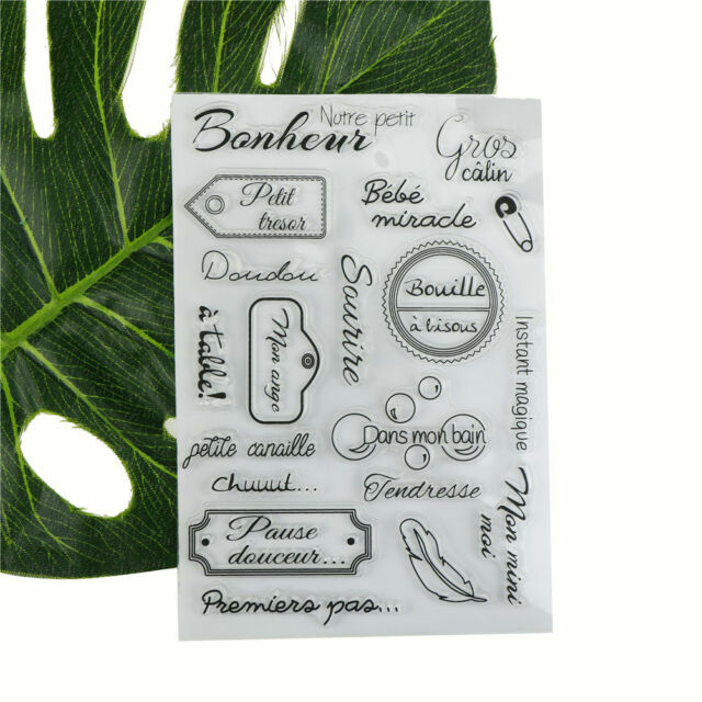 Pious Blessings Words Scrapbook DIY Photo Albums Cards Silicone Clear Stamp JB