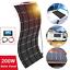 200W-Kit-de-panel-solar-flexible-20A-controlador-Pv-Conector-para-Camping-Coche-Yate miniatura 1