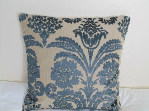 Designers Guild Velvet Fabric Cushion Cover Ombrione Charcoal