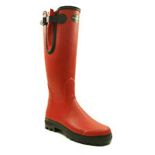Le Chameau  Womens Wellingtons Vierzone Boots Rubber Red Brand New Boxed 4 UK