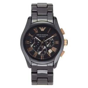 Armani-Watches-Ceramic-Black-Rose-Gold-Mens-Chronograph-Watch-AR1410