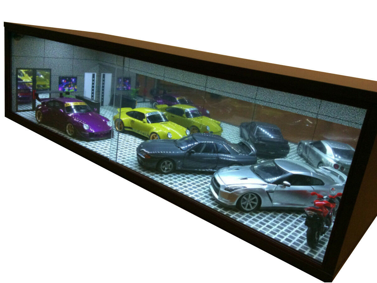 1/18 1:18 SCALE DIORAMA GARAGE DISPLAY ACRYLIC CASE W/ LED LIGHT MADE IN JAPAN ⑨