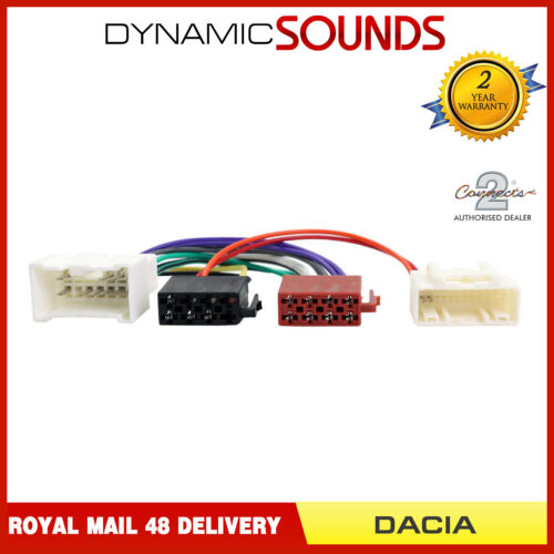 CT20DC01 Stereo Wiring Harness Adaptor Lead For Dacia Lodgy 2012 Onwards