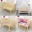 BABY-BED-SIDE-CRIB-NURSERY-NEXT-TO-MUM-NEXT-BED-FROM-BIRTH-COT-MATTRESS thumbnail 1