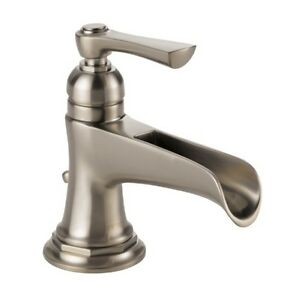 Brizo 65061lf Nk Rook Waterfall Bathroom Faucet Luxe Nickel Finish