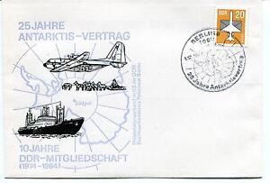 Livraison Rapide 1984 25 Jahre Antarktis Vertrag Ddr Mitgliedschaft Berlin Polar Antarctic Cover TrèS Poli