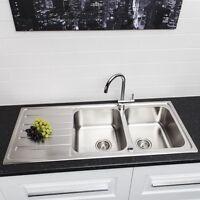 Sauber Stainless Steel Budget Kitchen Sink 2 Bowl