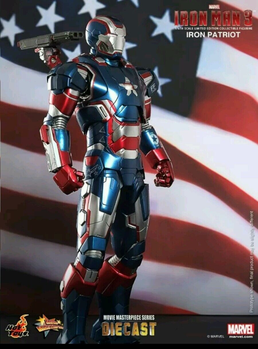 Hot Toys  IRON MAN    3 IRON PATRIOT 1/6th scale diecast figure in USA NRFB c1a9c2