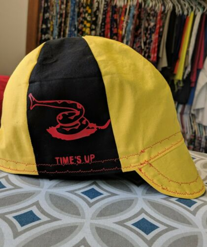 Wendys Welding  Hat Made With Times Up Application NEW!!