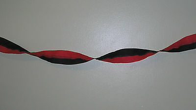 Red and Black Crepe Paper Streamer Party/christmas/Wedding Decoration