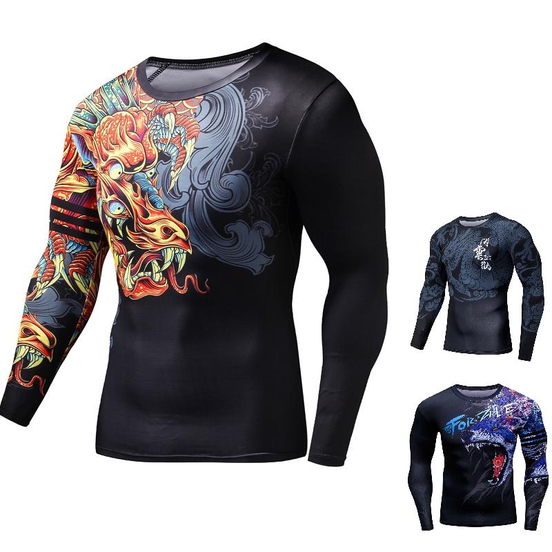 Venum /'s MMA BJJ Rashguard Short Long Sleeve Compression Mens Top Black Gym Tee