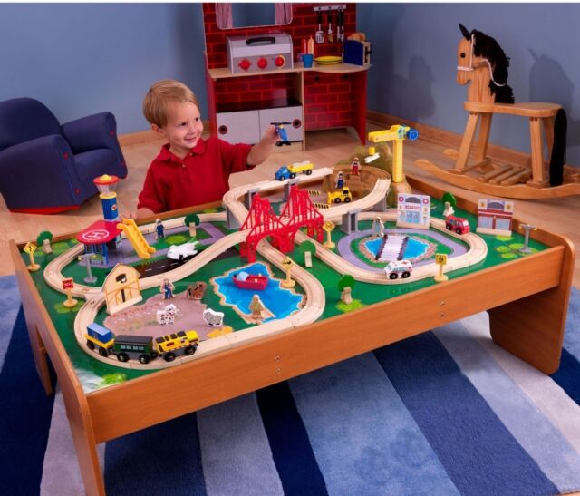 100-piece Wooden Train Set Thomas and Friends Small Table Toys Kid ...