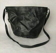 Womens Faux Leather Alligator Purse Black Shoulder Bag Handbag Satchel JARFF