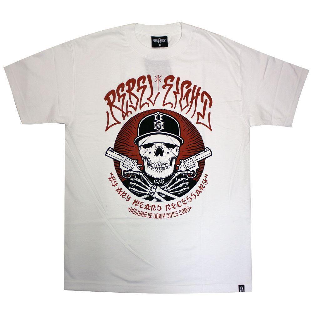 9a629be1bb1f Rebel8 Men's T-shirt Weiß Any Means nncnom150-T-Shirts