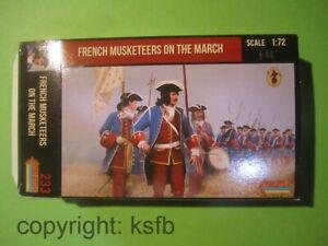 1-72-Strelets-233-spanischer-Erbfolgekrieg-Frankreich-Musketiere-auf-dem-Marsch