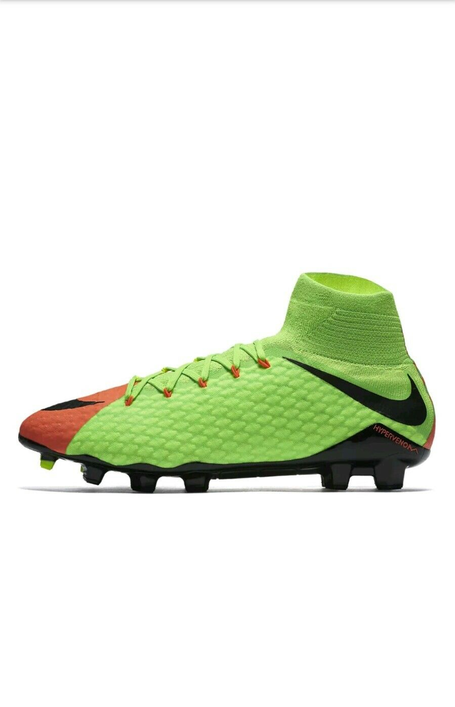 Mens Nike Hypervenom Phatal III FG Soccer Cleat 852554-308 Green Orange Comfortable Great discount