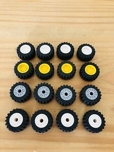 Image Is Loading Lego Technic Wheels Size 30 4x14mm White Yellow