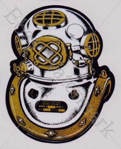 MARK V Helmet Diving decal sticker Aufkleber Diver Tauchen Plongée Scuba New