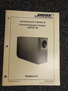 bose acoustimass 3 am 5p iii powered speaker sys service manual oem rh ebay com