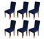 6pcs dining chair covers slipcovers home stretch dining chair - blue