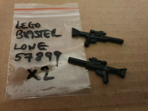 LEGO Star Wars Blaster Gun Weapon Clone Wars Storm Trooper Long 57899 Black x2