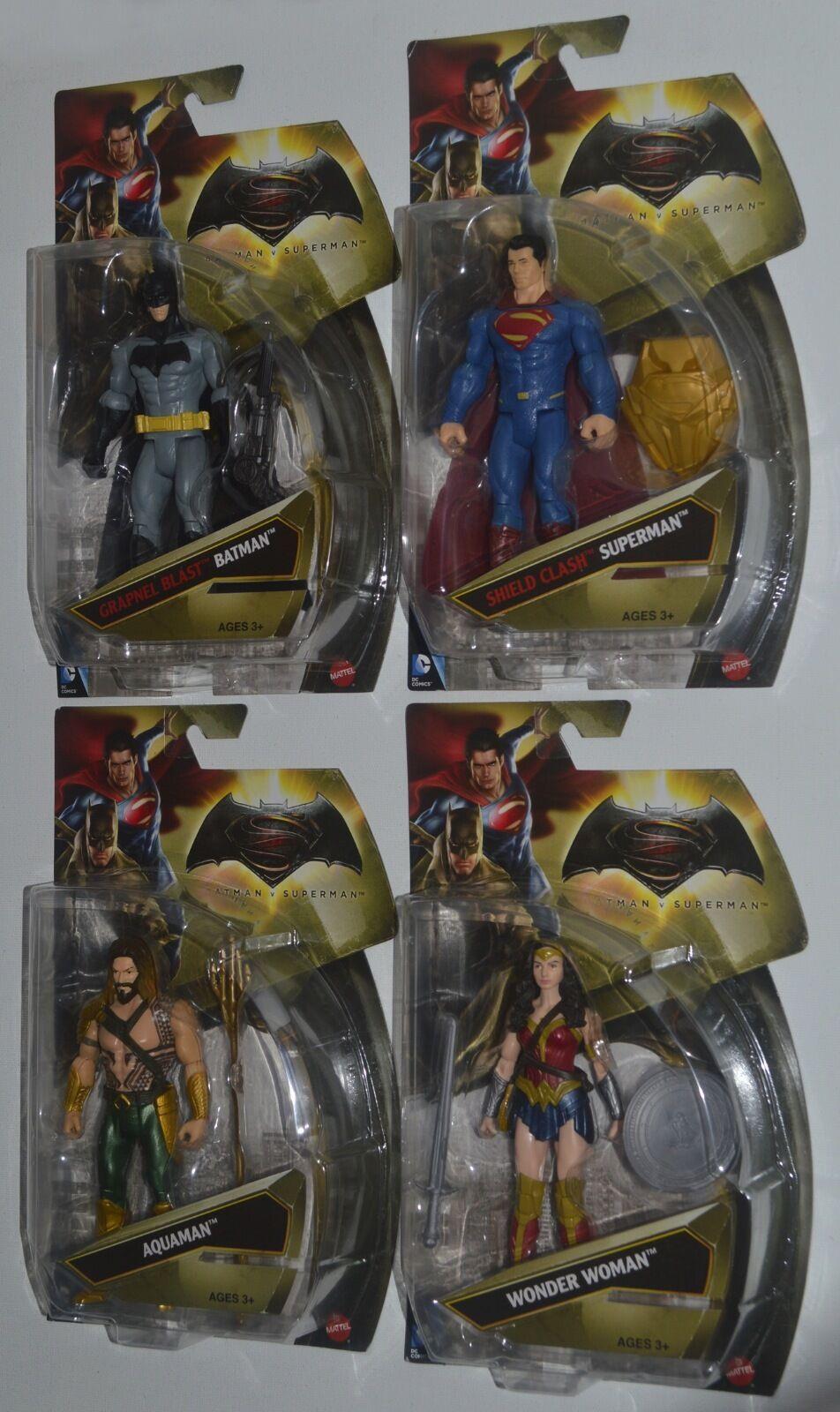 Batman - film - set von 4 superman, batman, superman, aquaman & wonder woman