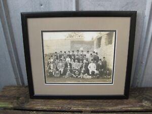 Antique-Framed-Egyptian-Boy-039-s-School-Class-Photograph-From-Cairo-Egypt-B9081