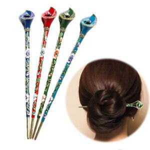 Women-Chignon-Metal-Rhinestone-Handmade-Hair-Stick-Hair-Chopsticks-Hairpin-Pin
