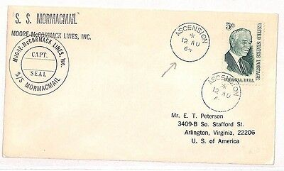 Ascension Island Vv484 1964 Usa Used *ascension* Island Maritime Mail Virginia {samwells-covers} Making Things Convenient For The People